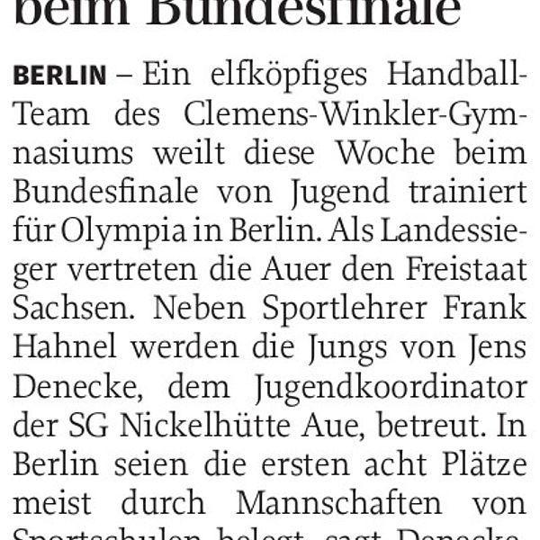 Winkler-Schüler beim Bundesfinale - 02.05.2017
