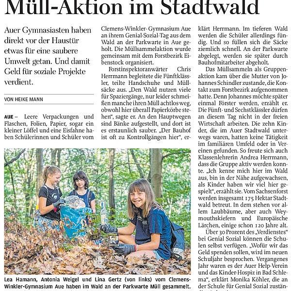 Müll-Aktion im Stadtwald - 05.07.2019