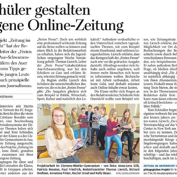 Schüler gestalten eigene Online-Zeitung - 23.12.2016
