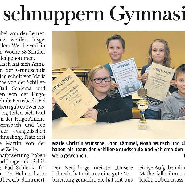 Grundschüler schnuppern Gymnasiumsluft - 28.11.2017