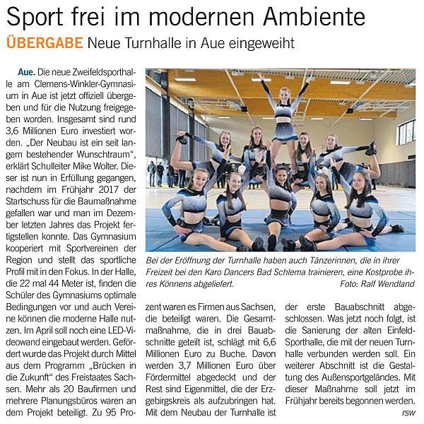 Sport frei im modernen Ambiente - 16.03.2019