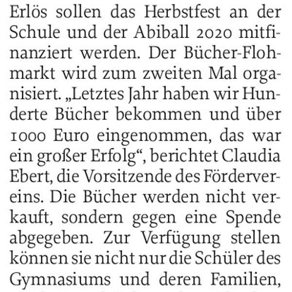 Einnahmen fürs Auer Gymnasium - 29.06.2019