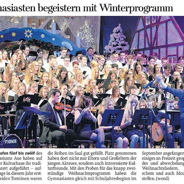 Auer Gymnasiasten begeistern mit  Winterprogramm - 15.12.2015