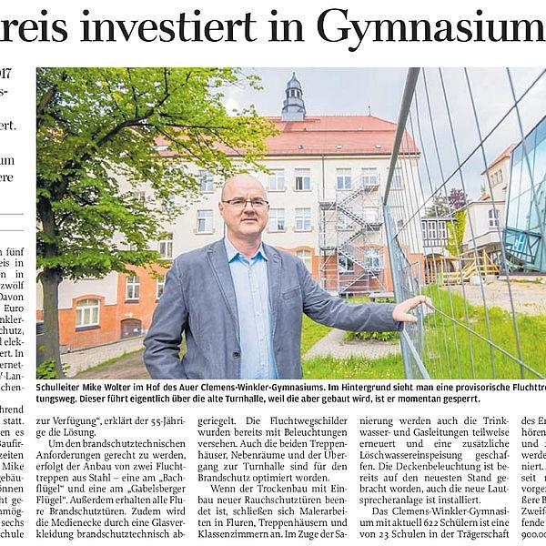 Landkreis investiert in Gymnasium - 14.06.2019