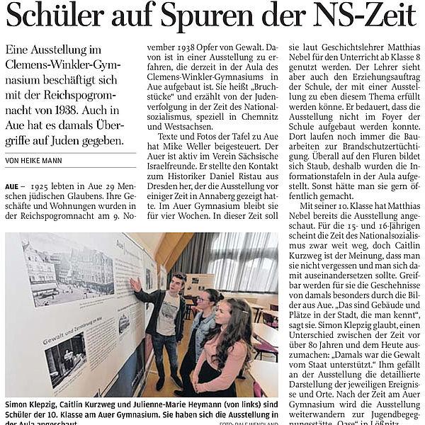 Schüler auf Spuren der NS-Zeit - 29.02.2020