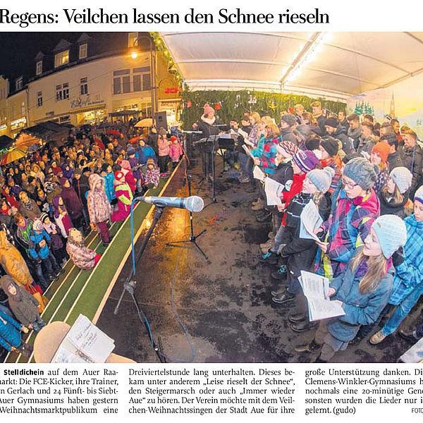 Trotz Regens: Veilchen lassen den Schnee rieseln - 02.12.2015