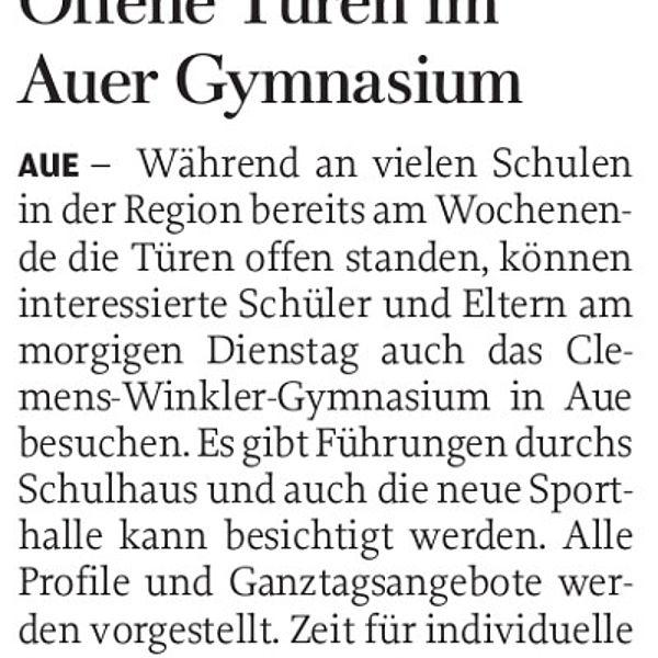 Offene Türen im Auer Gymnasium - 11.02.2019