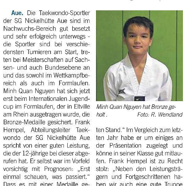 Bronze für Auer Minh Quan Nguyen - 05.11.2016