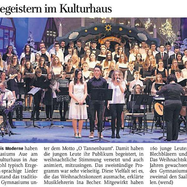 160 Schüler begeistern im Kulturhaus - 15.12.2017