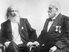 Dimitri Mendelejew (links) und Clemens Winkler